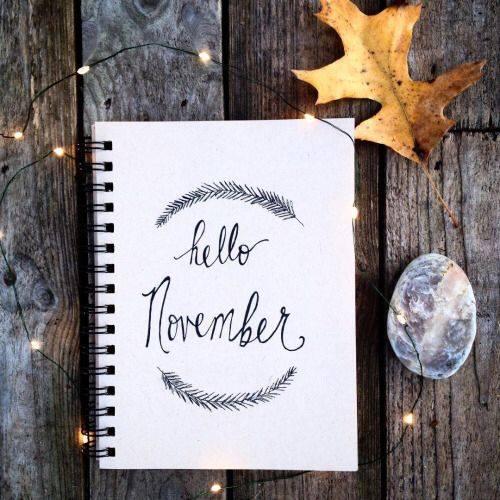 Em novembro começamos...