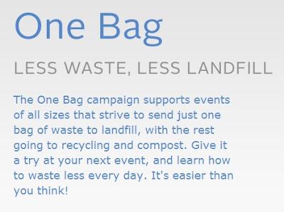 Glad One Bag Challenge