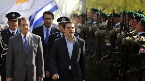 Ο πρόεδρος Κύπρου Αναστασιάδης και ο νέος πρωθυπουργός της Ελλάδας Τσίπρας.