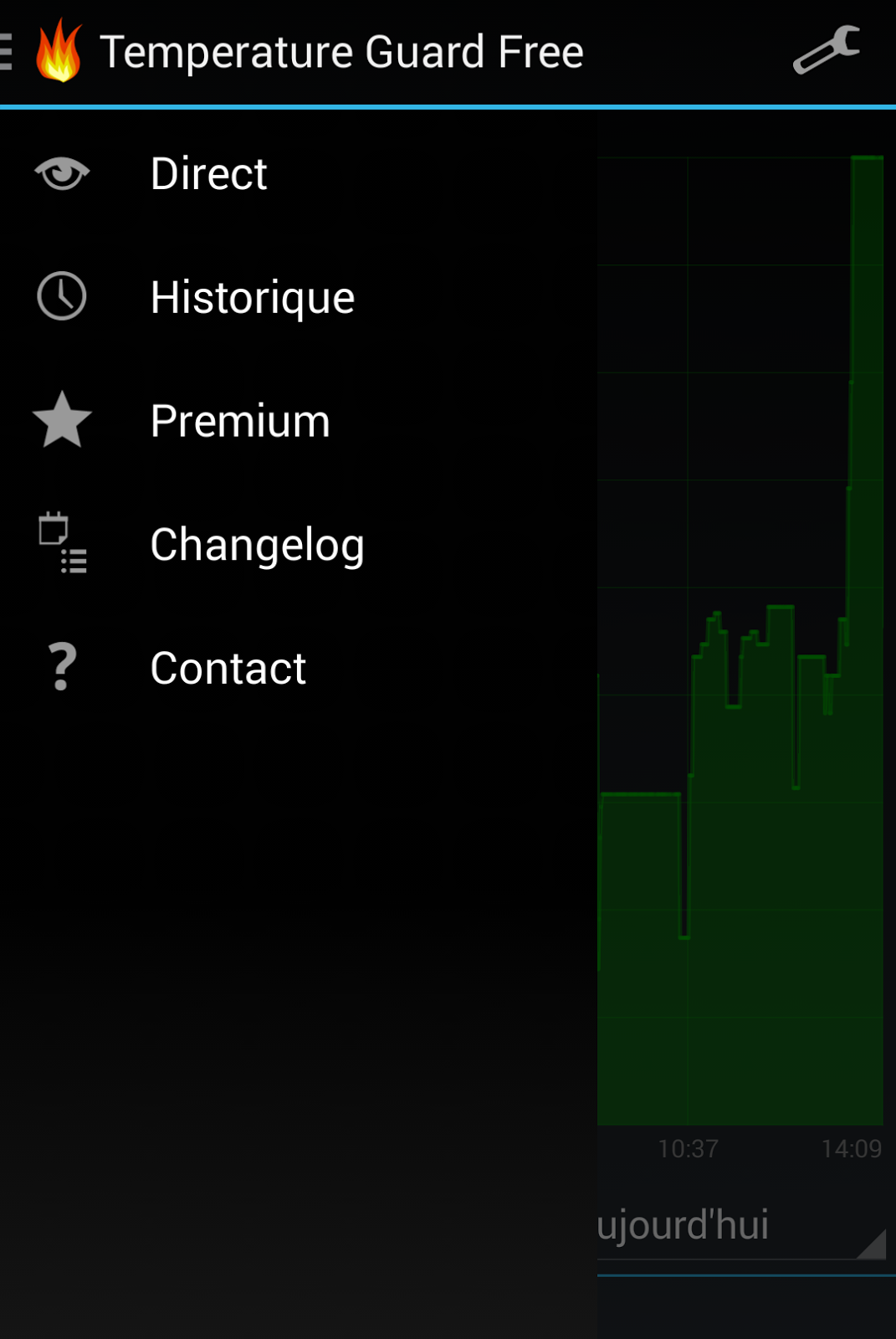 android temperature french