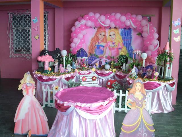 decoração infantil da barbie