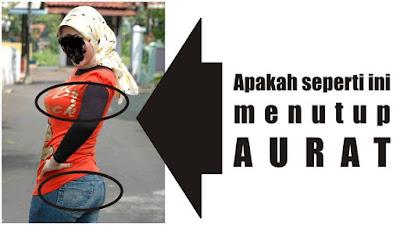 Jilbab yang mirip pakaian lelaki