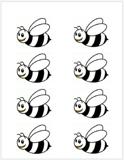 Légend image in bee printable
