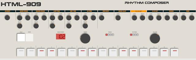 Der HTML 909 Rhythm Composer für den Silvester Beat im Eigenbau