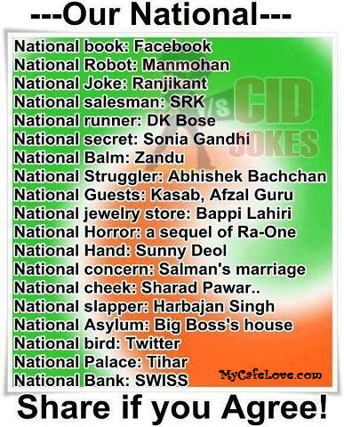 India's National assets ~ funny thought