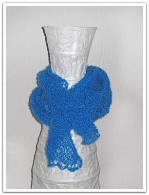 Supermodell för visning av sjal