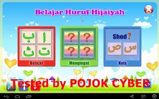 Tampilan Aplikasi Belajar Hijaiyah v1.2.3 buatan Indocipta Studio