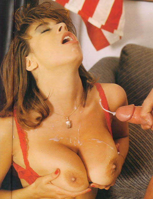 Christy Canyon Cumshot on Big Tits