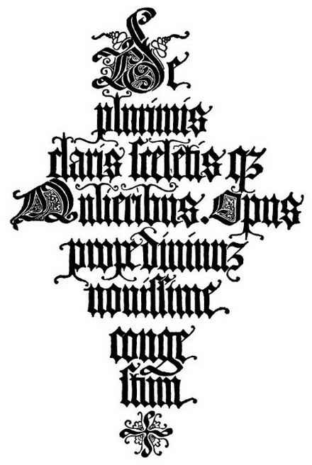 Old Lettering A Z Graffiti Fonts Blackletter Italian 1497
