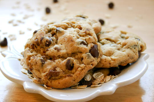 Peanut Butter Oatmeal Chocolate Chip Graham Cookies.