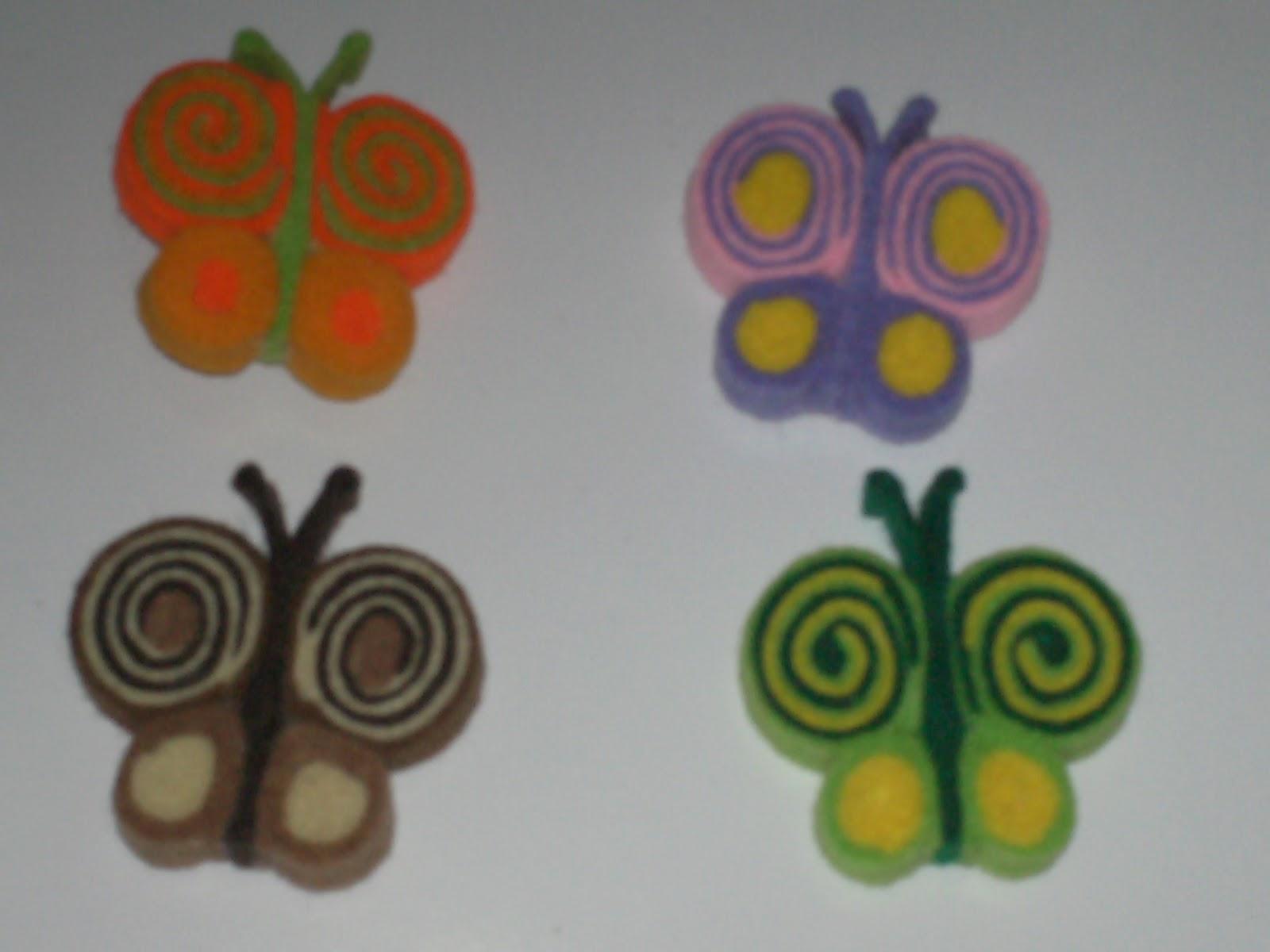 Bros KUpu-kuPu lucu dan imut ini terbuat dari kain flanel warna warni