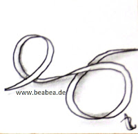 Zentangle-Muster. Tangle: Bandlbee Designer: Beate Winkler, CZT