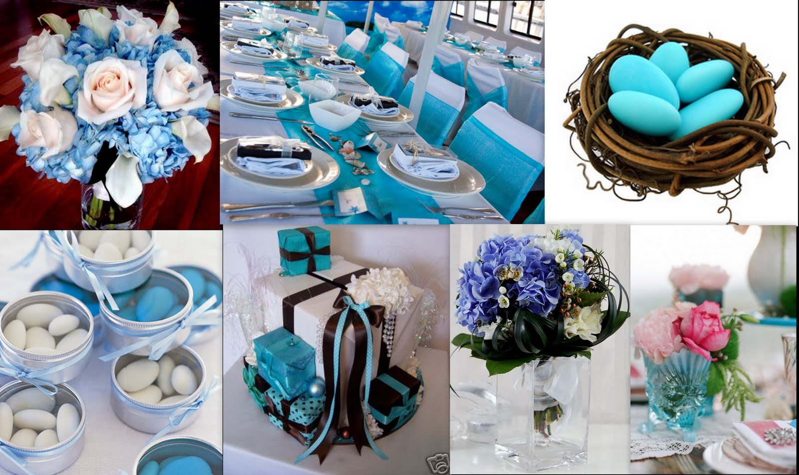Sky Blue And White Wedding Decorations On The Cards September