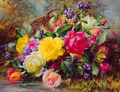 Pintura Cuadros al Óleo de Flores Albert Williams (Sussex Inglaterra)