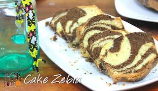 Cake motif Zebra yang dibuat di dapur Resep Borneo