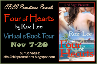 GUEST POST WITH ROZ LEE + EXCERPT FROM FOUR OF HEARTS