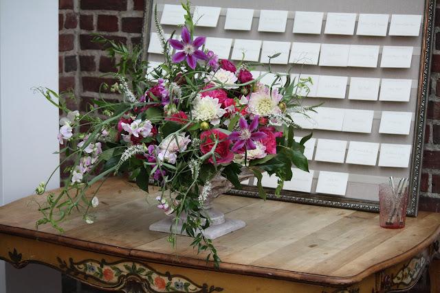 Highlands Country Club Card Table Arrangement - Splendid Stems Event Florals