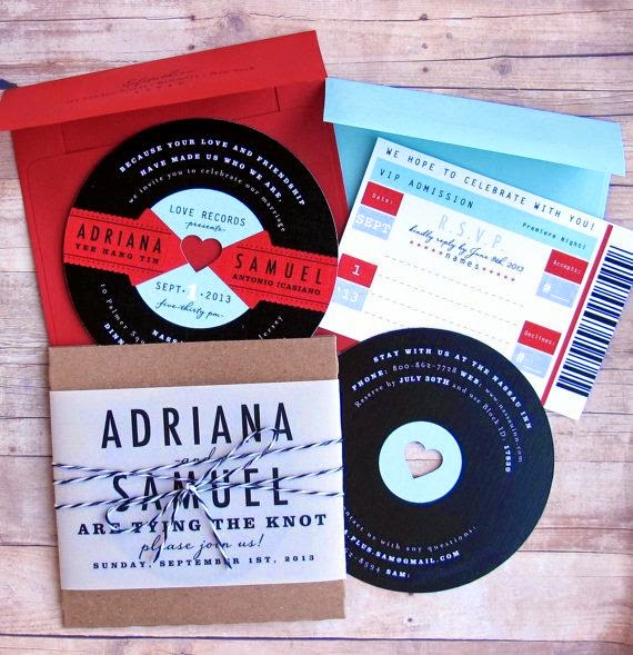Beyond The Aisle Paper Chase Music Inspired Save The Dates Invites