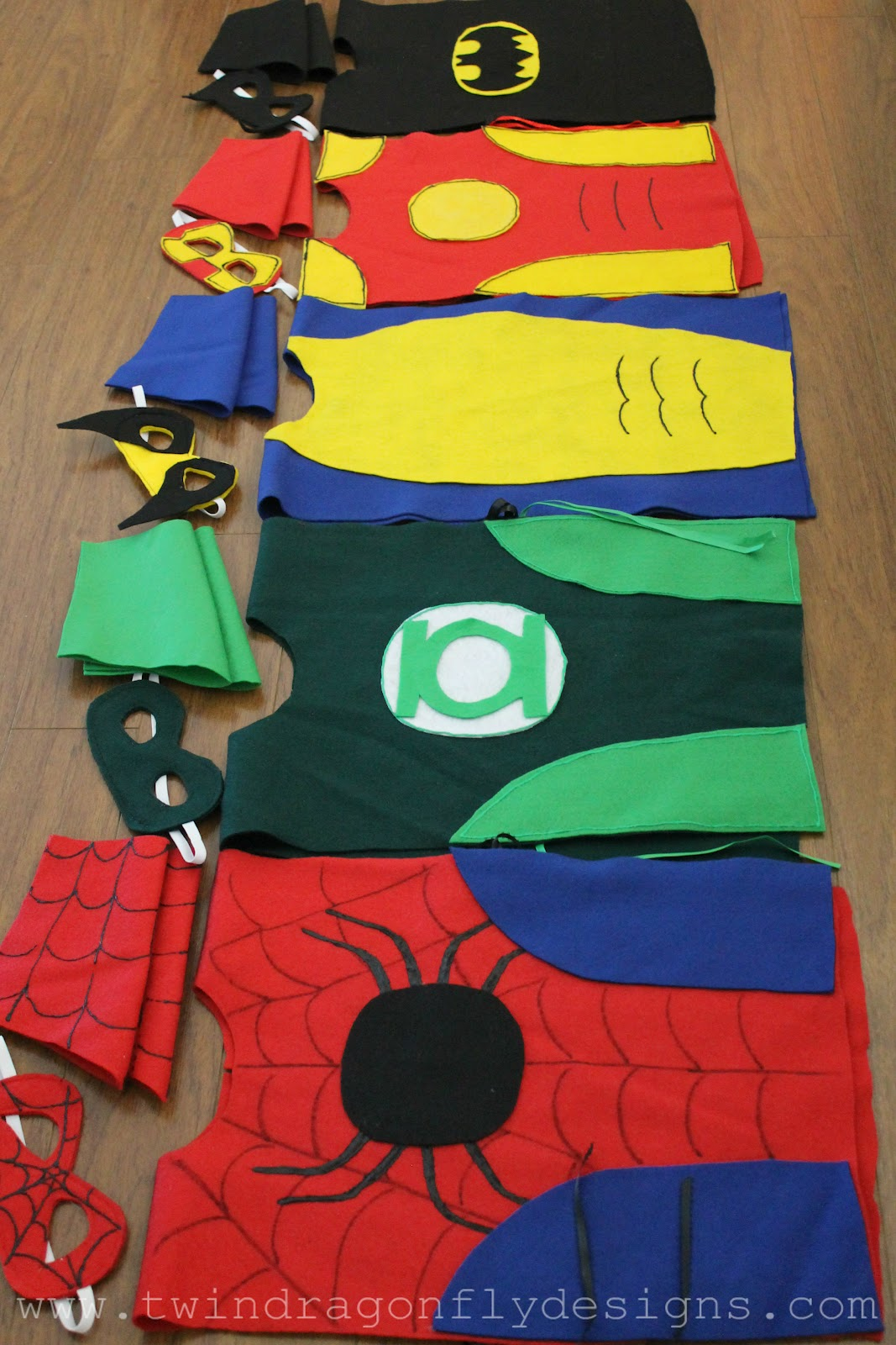 No sew super hero costumes tutorial dragonfly designs solutioingenieria Image collections