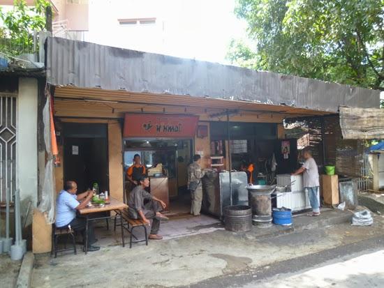 En el restaurante de Bandung