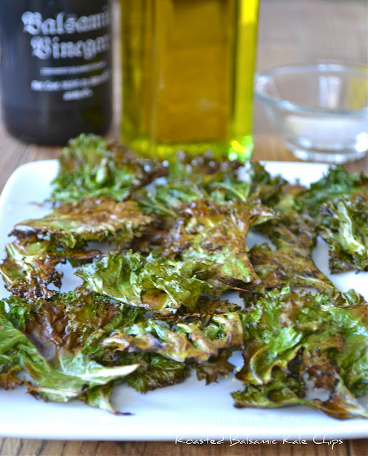 Roasted Balsamic Kale Chips