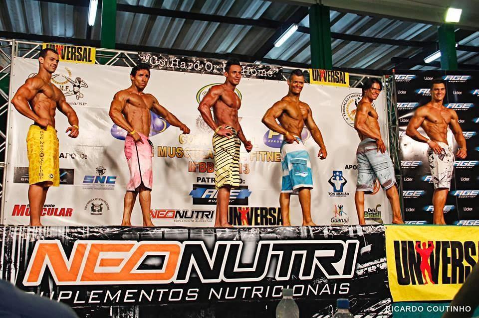 Diego subiu no palco da Copa Litoral com 75 kg Foto: Ricardo Coutinho