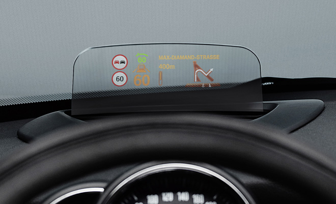 2014 Mini colour head up display