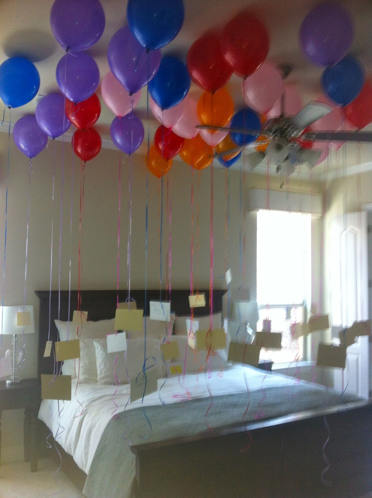 37 balloons- and attached to each balloon was a reason why I love him.