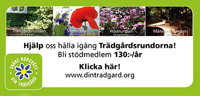 Hjälp oss hålla igång Trädgårdsrundorna!