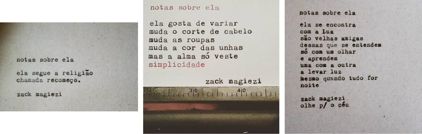 Rendas E Paetês Notas Sobre Ela Zack Magiezi