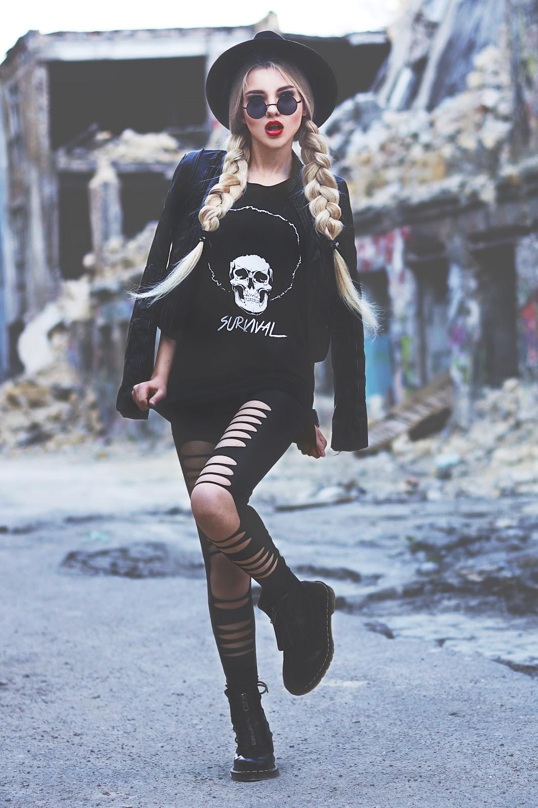 fashion blogger, grunge style, grunge looks, ukrainian fashion blogger