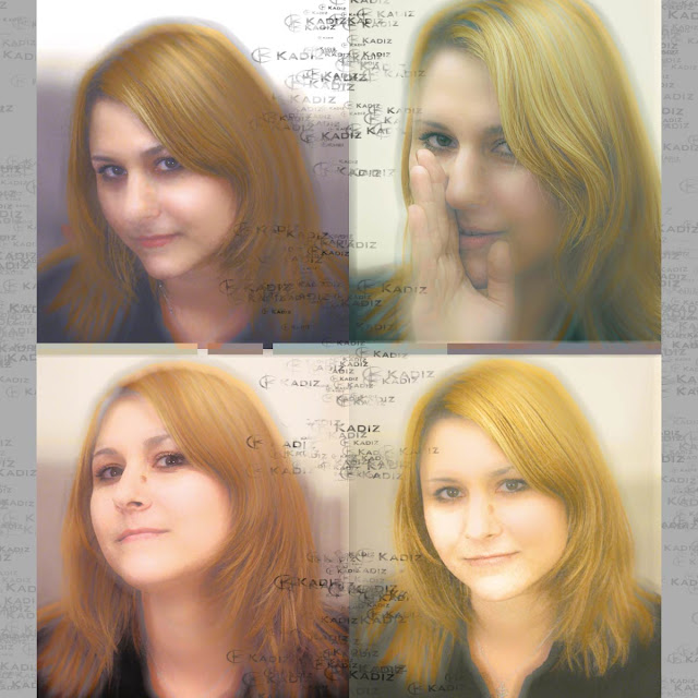 девушка на разных фото