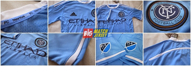 Detail Baju Jersey Bola Grade Ori New York City FC Home Official 2015-2016