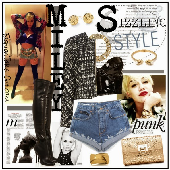 celebrity lashion look sizzling style with miley cyrus