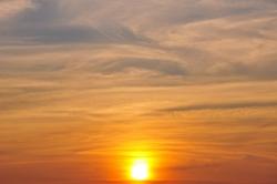 Sonne am Abend...