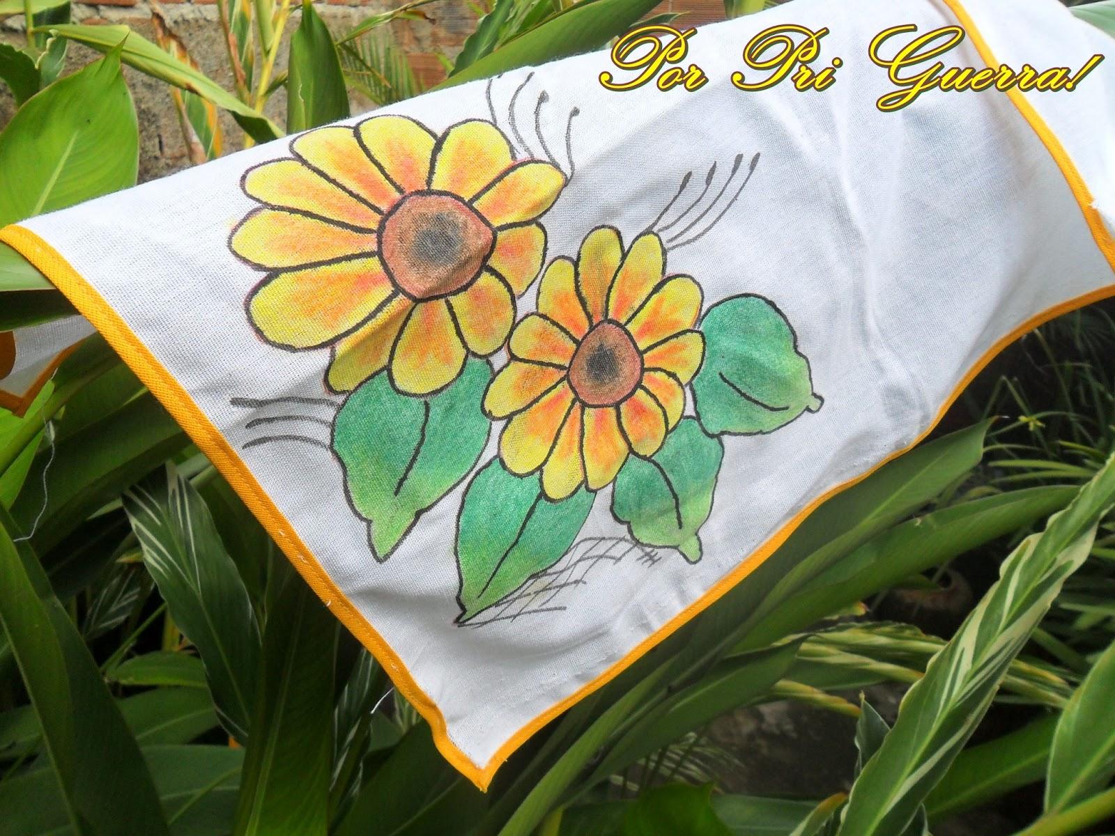 Top Marias do Lar: Pintura com giz de cera em tecido! DR23