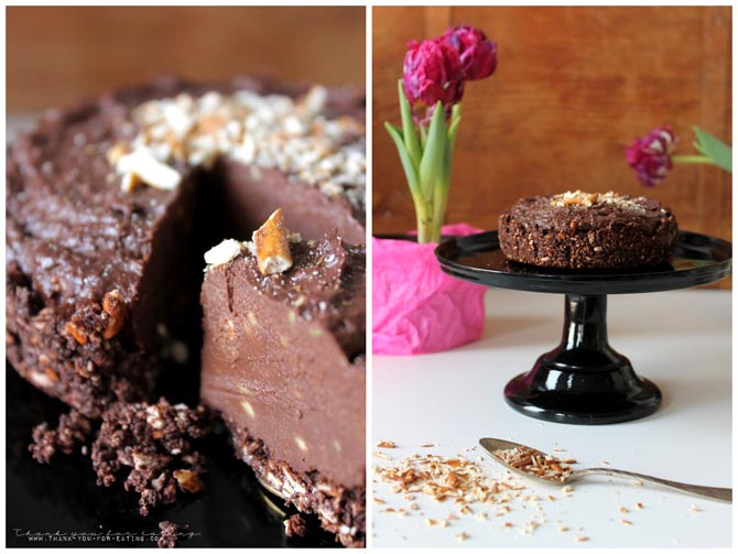 No Bake Chocolate Cake Vegan