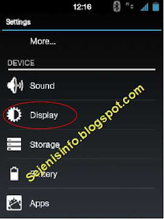 display setting android