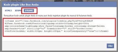 Cara Memasang Like Box Facebook Widget Pada Blog