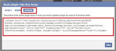 Cara Memasang Like Box Facebook Widget Pada Blog