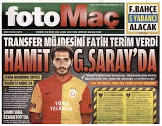 Photomontage with Altintop in Galatasaray jersey