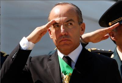 Presidente mexicano saludo de guerra