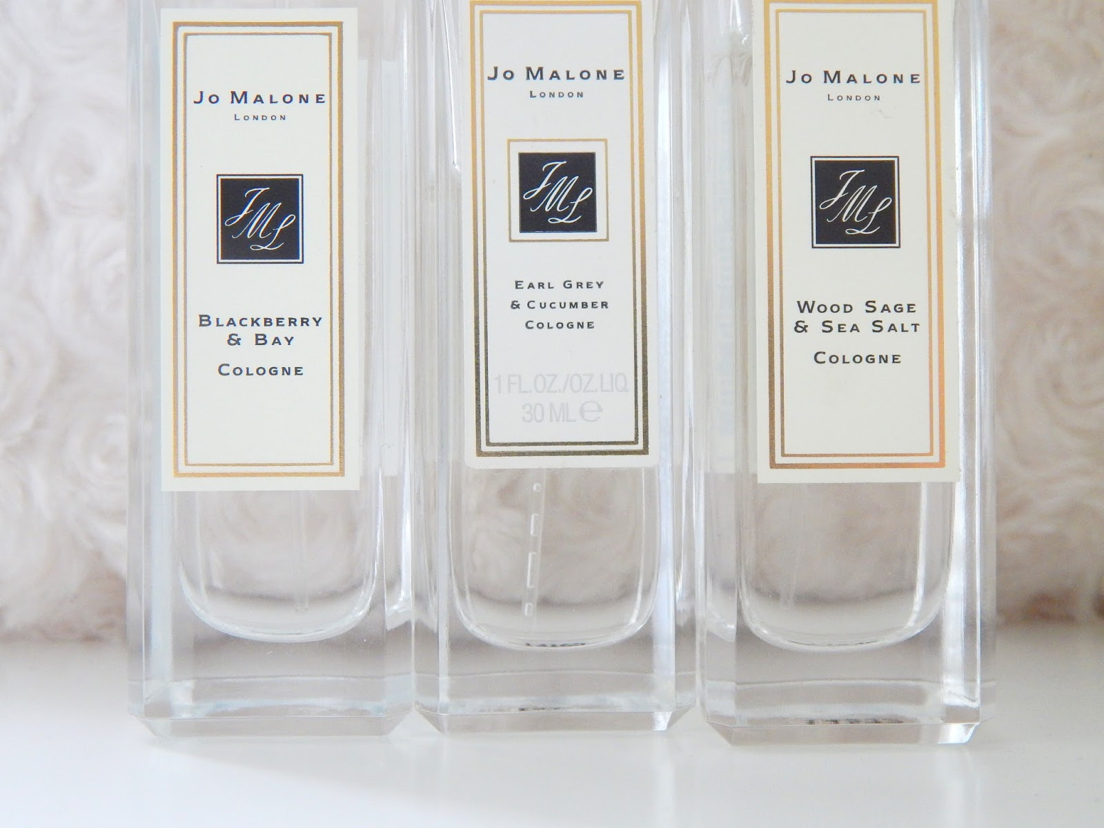 Jo Malone Blackberry & Bay, Earl Grey & Cucumber and Woodsage & Seasalt Perfume