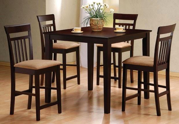 meja makan kecil modern dari kayu