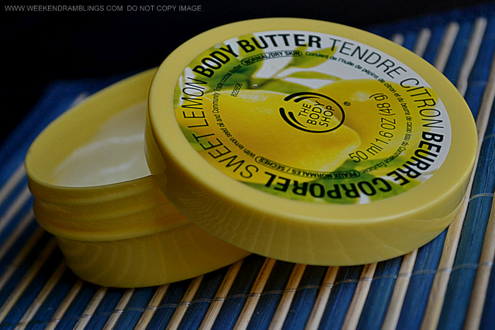 TBS Sweet Lemon Body Butter Dry Skincare Moisturizer Natural Organic Indian Makeup Beauty Blog Reviews Ingredients