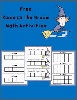 Room on the Broom, julia Donaldson, VirtualBookClub, picture books, book activities, children books ideas, kindergarten common core, free printable, math frames