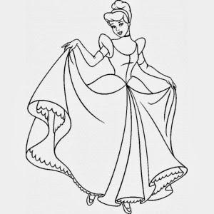 Disegni di principesse da colorare for Disegni da colorare e stampare disney