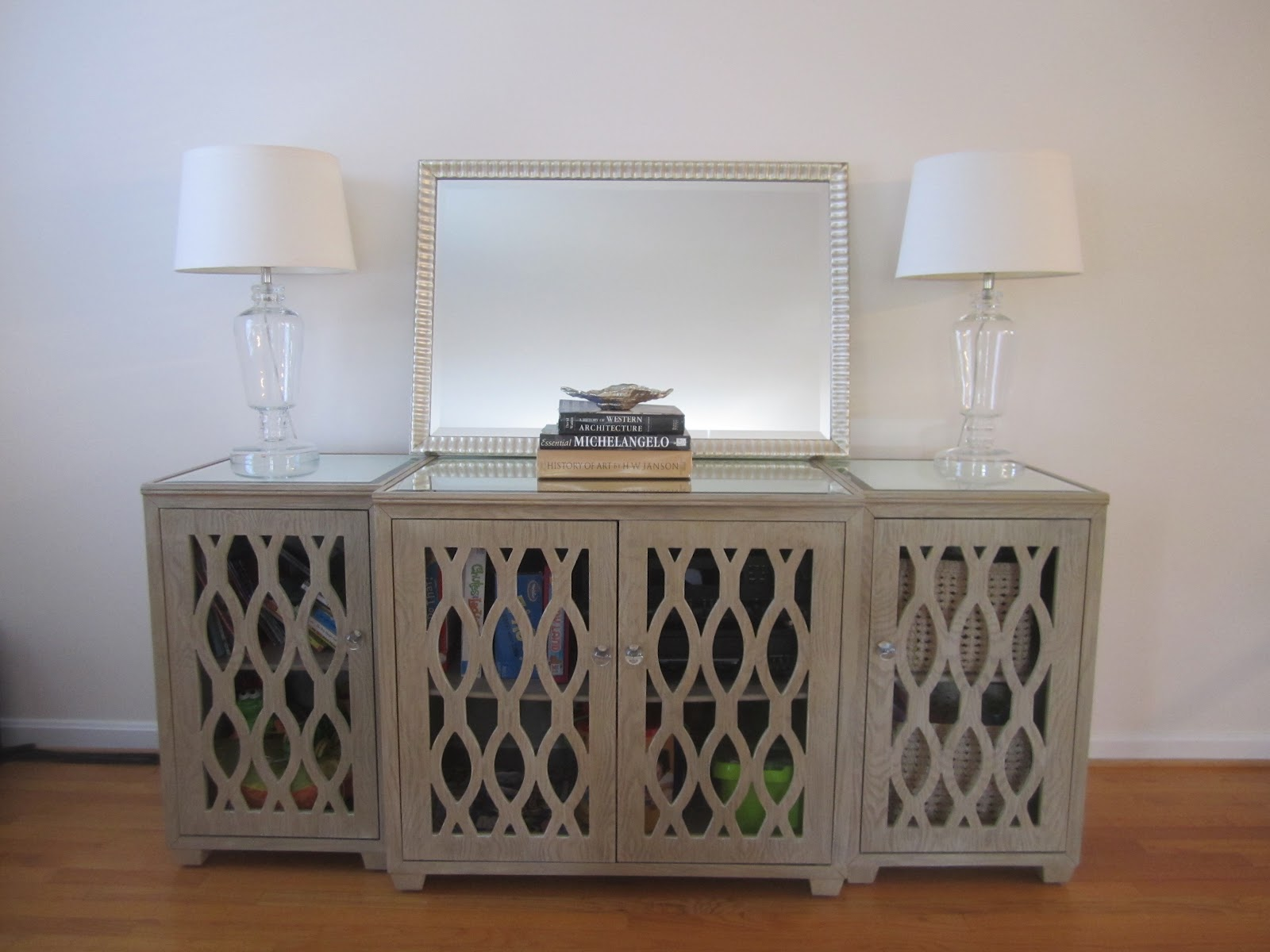 Simply Beautiful House: Living Room Credenza - update