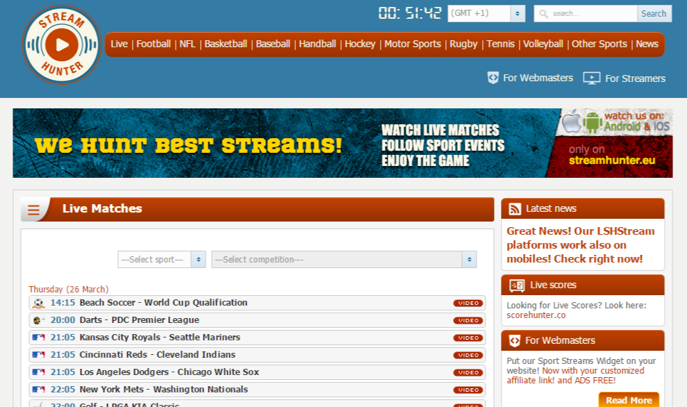 Top 10 Websites for Free Sports Streaming Online ~ Watch Free ...