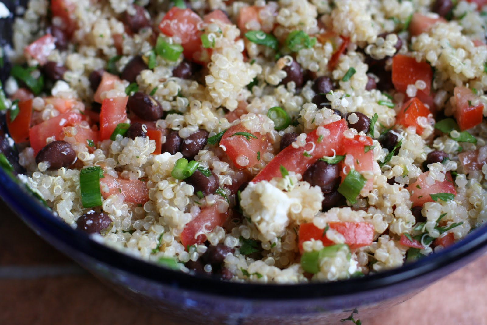 Crumb City: Quinoa Salad with Black Beans and Tomatoes